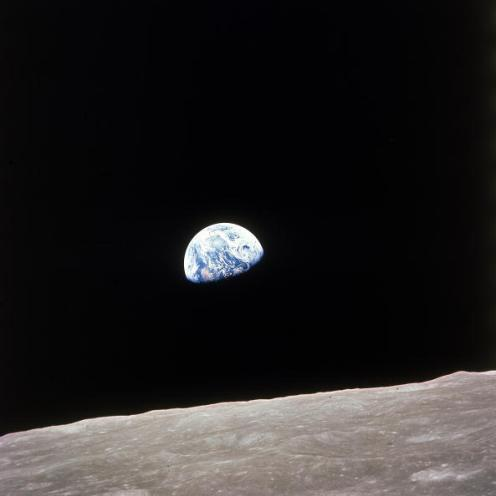 Apollo 8 view of earth rise over the moon. (Photo by Time Life Pictures/NASA/The LIFE Picture Collection/Getty Images)